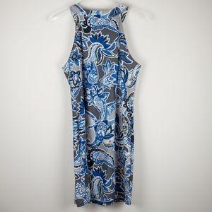 Aryeh Dresses - Aryeh Paisley Blue Grey Dress Sleeveless NWT Large